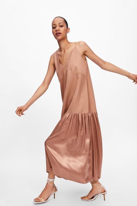 vestido asimétrico combinado