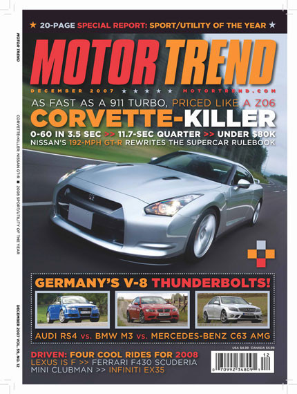 Portada de diciembre de Motor Trend