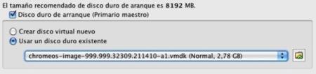 virtualbox sun asistente imagen disco