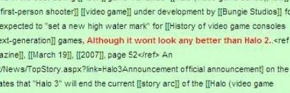 Sony mete caña contra Halo 3 en... la Wikipedia