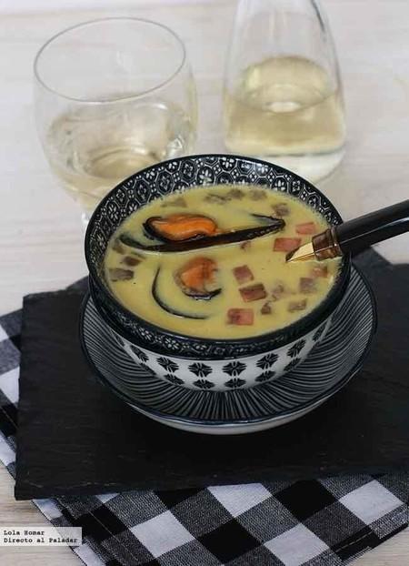 Sopa de mejillones en crema, receta económica, nutritiva y muy fácil