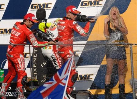 Casey Stoner Loris Capirossi Ducati Australia 2007