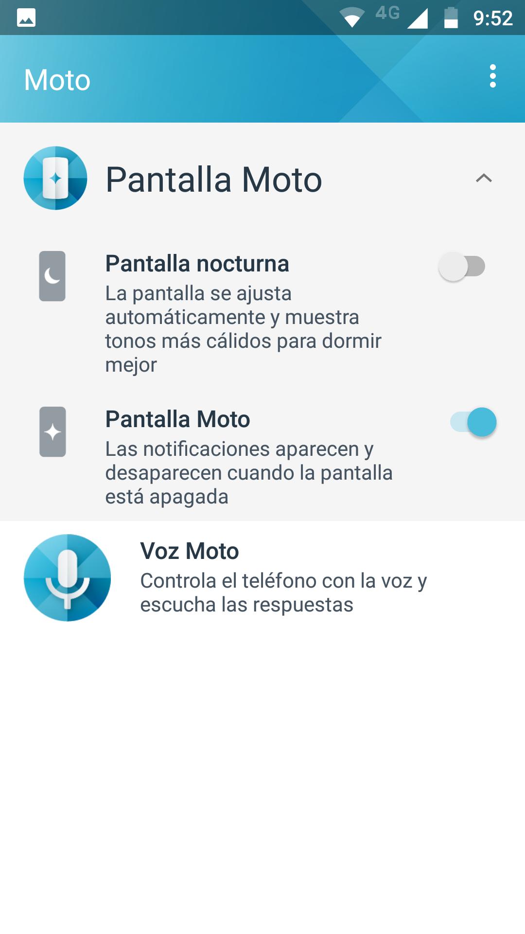 Software del Moto Z2 Play