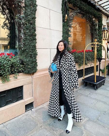 Abrigos Cuadros Street Style 2019 03