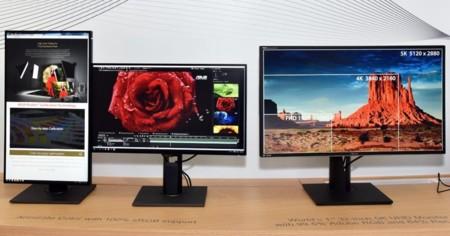 Asus presume de monitores con uno 5K, otro Full HD a 240 Hz y un prototipo 4K a 144 Hz