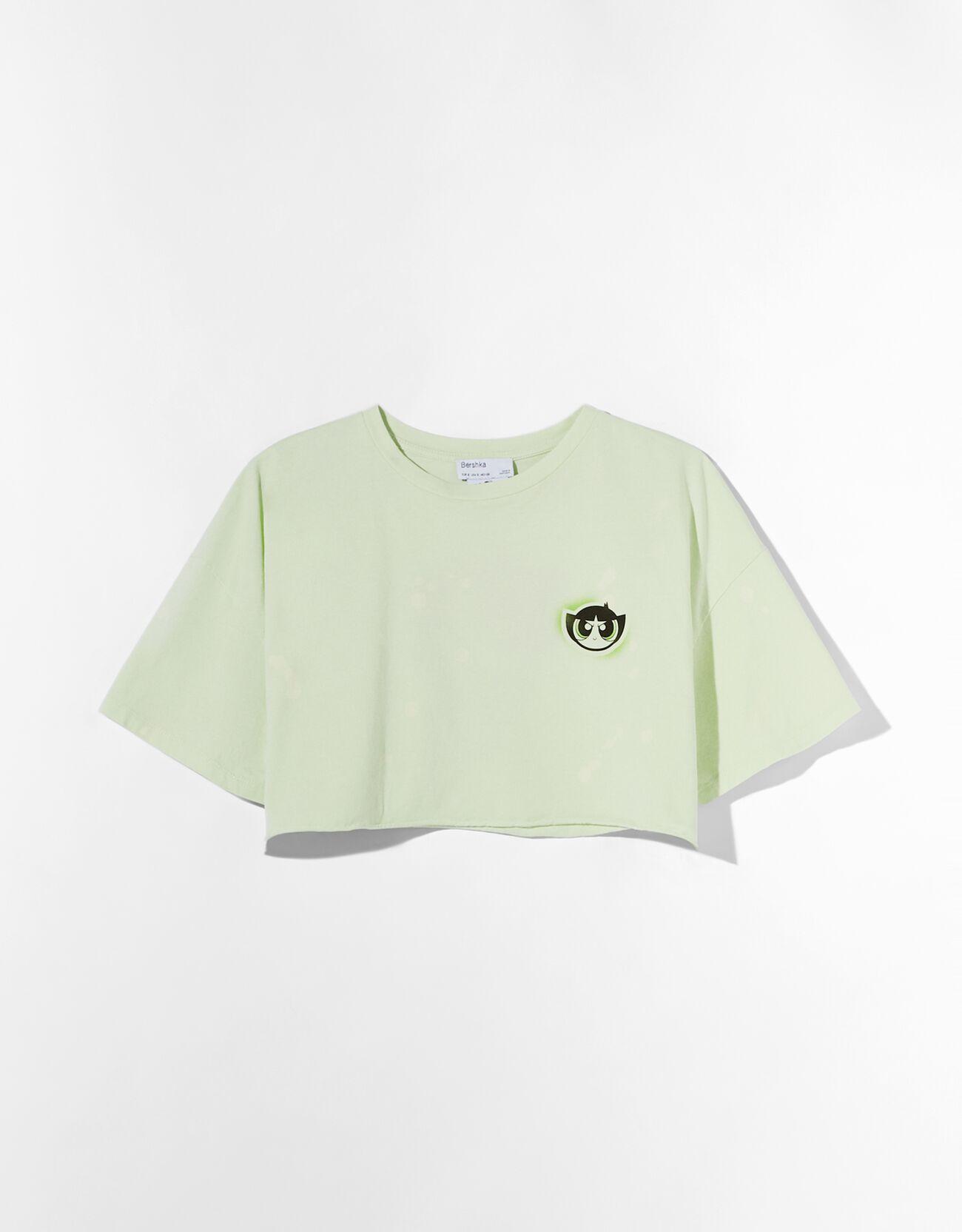 """Camiseta cropped Supernenas """"Cactus""""."""