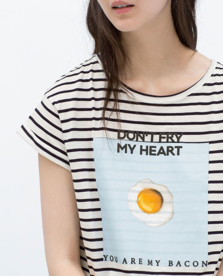 """""""No frías mi corazón, tú eres mi bacon"""" en Zara y otras 11 camisetas que nunca pensarías ver"""