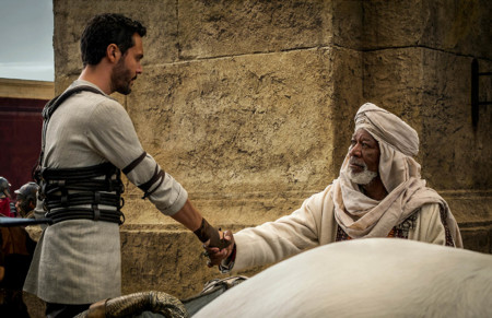 Jack Huston Y Morgan Freeman En Ben Hur