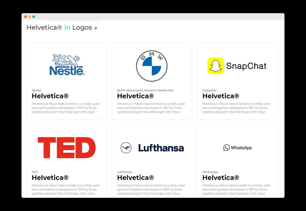 Elige un logo y descubre la fuente: esta web te ayuda a encontrar las tipografías de logos y marcas famosas