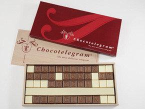 Un telegrama de chocolate