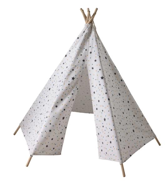 Tipi infantil con motivo de triángulos y estrellas