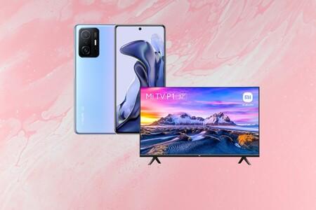 """Chollo pack en El Corte Inglés: compra el nuevo Xiaomi 11T de 256GB y llévate el televisor Xiaomi Mi TV P1 de 32"""" a 599 euros"""