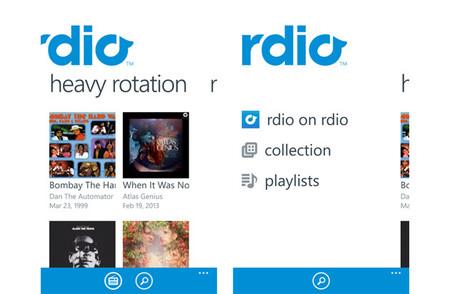 Rdio Windows Phone 8