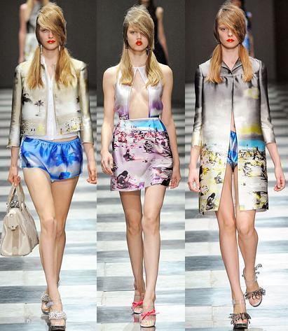 Prada Primavera-Verano 2010 en la Semana de la Moda de Milán
