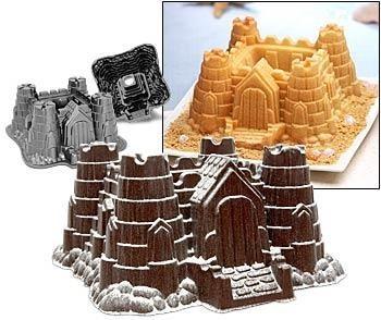 Molde de tarta con forma de castillo