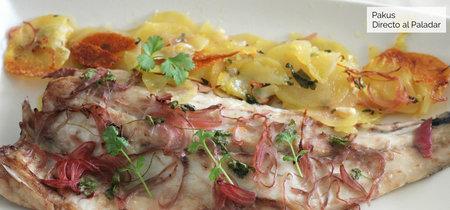 Corvina al horno con cilantro y cebolla encurtida, una explosión de sabor en cada bocado