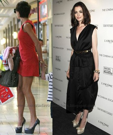 Los zapatos de Victoria Beckham...ya los llevaba Anne Hathaway