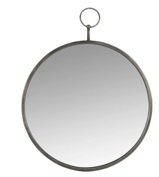 BISCARROSSE - Espejo reloj de bolsillo de metal dorado D.45