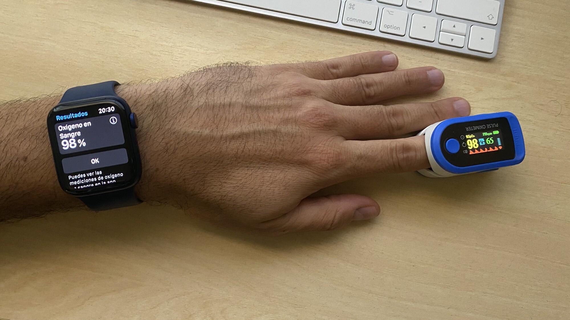 Foto de Mediciones simultáneas SpO2 con Apple Watch Series 6 y pulsioxímetro de dedo (12/12)