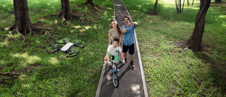 Dji Spark Family Bike Ride