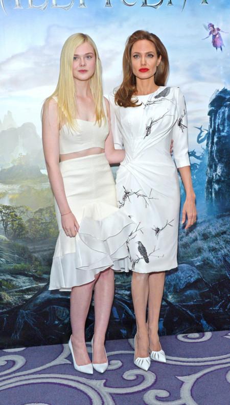 Elle Fanning Angelina Jolie Atelier Versace