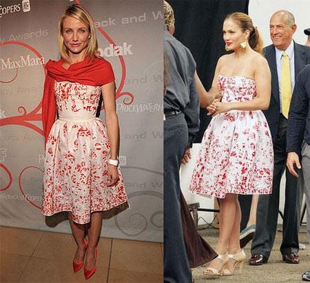 Vestido de Oscar de la Renta: ¿Cameron o Jennifer?