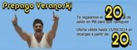Eroski traslada a prepago la promoción Veranoski que regala Internet durante el verano