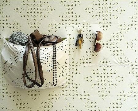 Pocket Wall, papel con bolsillos en la pared