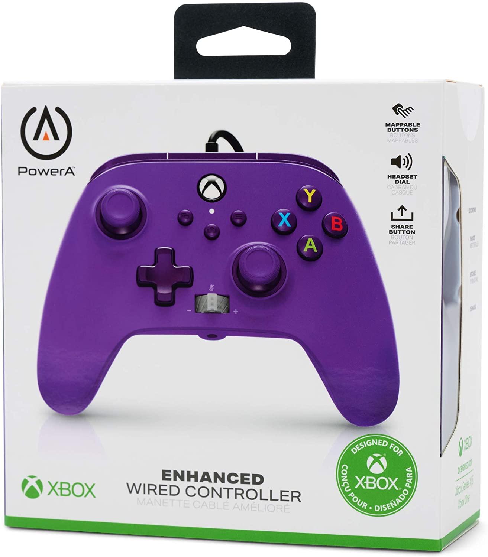 Control alámbrico PowerA Xbox Series X|S y Xbox One color morado