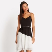 vestido blanco y negro oasis