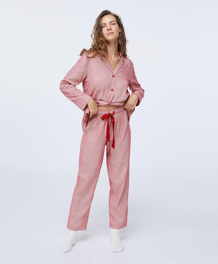 Pijama Cuadro Vichy Navidad Oysho 00001