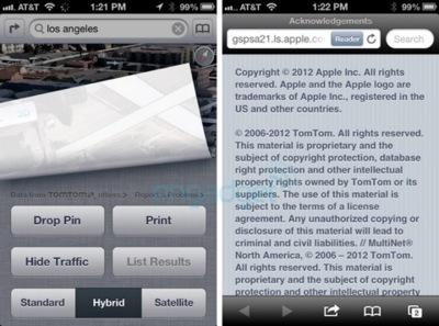 Tom Tom llega a un acuerdo global con Apple para sus mapas e información relacionada en Mapas de iOS 6