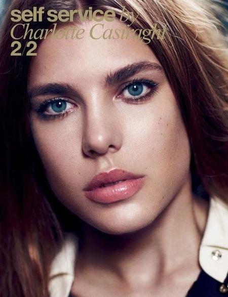 Carlota Casiraghi muestra su belleza en el nuevo número de Self Service