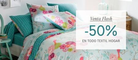 Oferta flash en La Redoute: hasta el 21 de febrero tenemos un descuento del 50% en su sección de textil y hogar