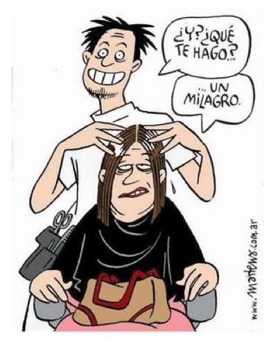 Maitena, peluquero