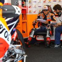 El Repsol Honda concluyen el primer día de test en Misano