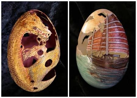 huevos arte comida