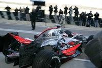 Primer día de Alonso con el McLaren MP4-22