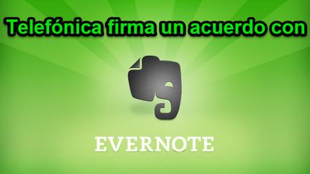 Telefónica se alia con Evernote y la ofrecerá cuentas premium a sus clientes durante un año
