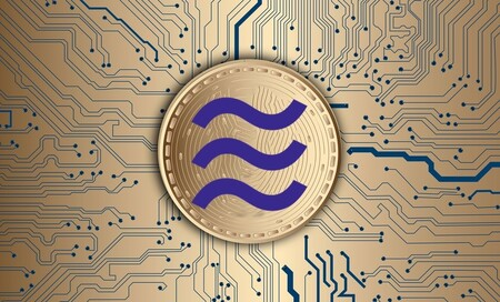 Symbol of Libra, the cryptocurrency of Facebook