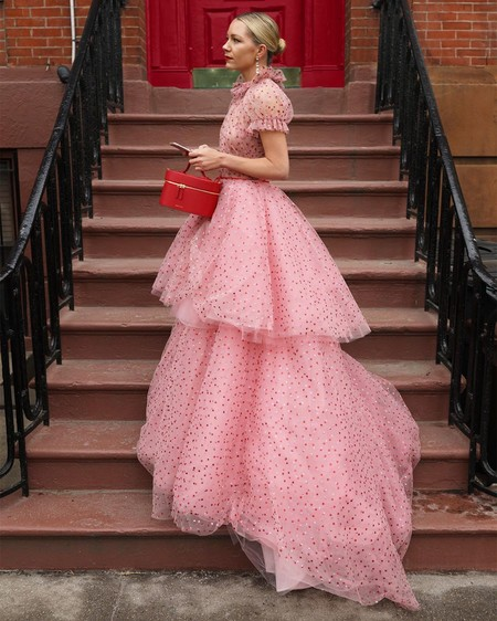 Combinar Vestido Rosa Zapato Bolso 10