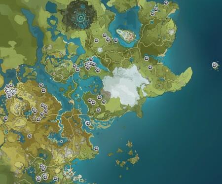 Hierro Blanco Genshin Impact Mapa