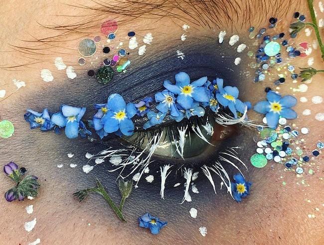 maquillaje flores verdad terrario primavera