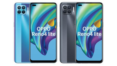 Los renders filtrados del OPPO Reno4 Lite muestran sus seis cámaras y apuntan a un lanzamiento inminente