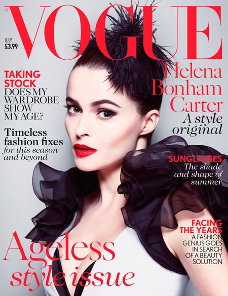Pero qué glamourosa se nos pone Helena Bonham Carter en Vogue