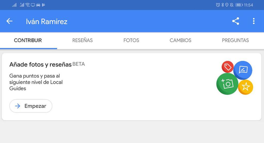 Google Maps hace mas sencillo colaborar enviando fotos y reseñas con el reciente menú para Local Guides