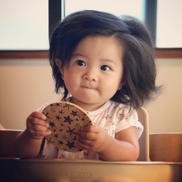 Baby Chanco, una bebé de un año con increíble melena es la nueva modelo pelo Pantene en Japón