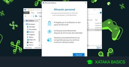 Almacén personal de OneDrive: qué es, para qué sirve y cómo usarlo