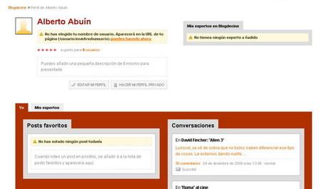 Página de usuario en Blogdecine, el protagonista eres tú