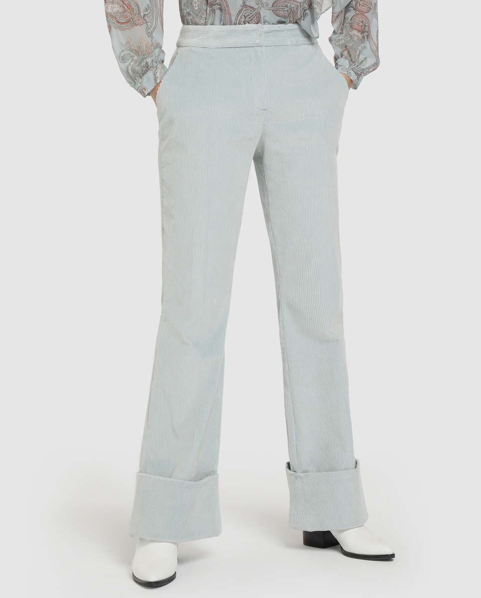 Pantalón de pana con algodón de mujer